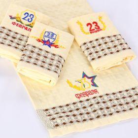Полотенце мини-руки «23 февраля вафельное»